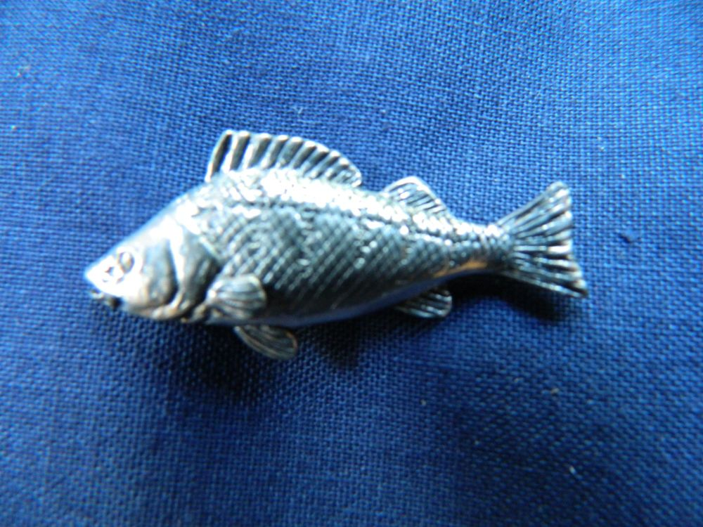 New Product Perch pewter pin badge