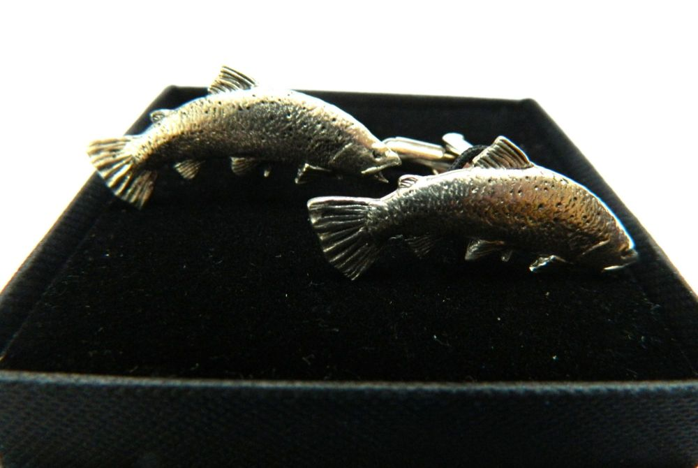 Salmon, Pewter cufflinks