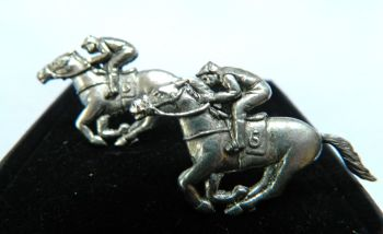 Horse Racing pewter cufflinks