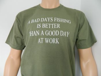 New Product A Bad Days Fishing, T Shirt
