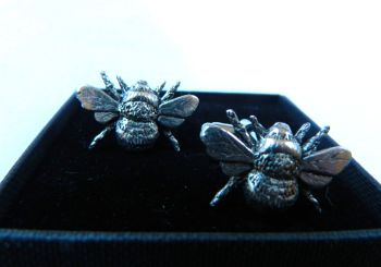 New Product Bee Pewter Cuff links