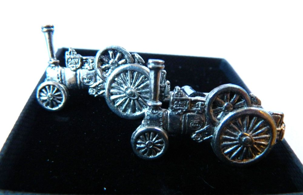 New Product Traction Engine Pewter Cufflinks