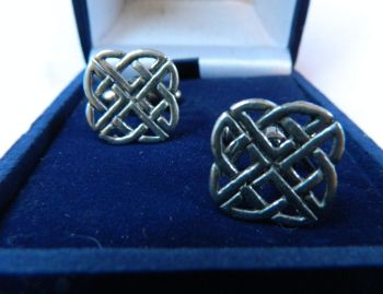 Celtic knott pewter cufflinks