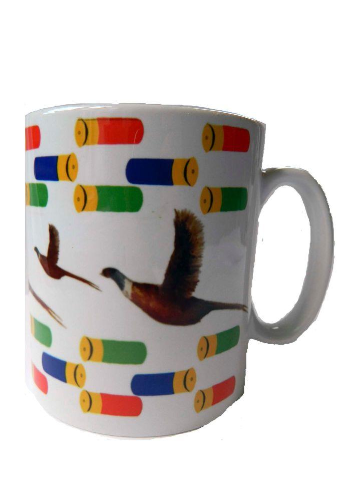 Pheasant and cartridge mug