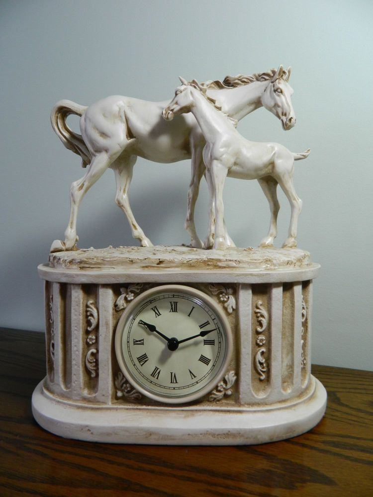 New Product Mare and Foal Clock