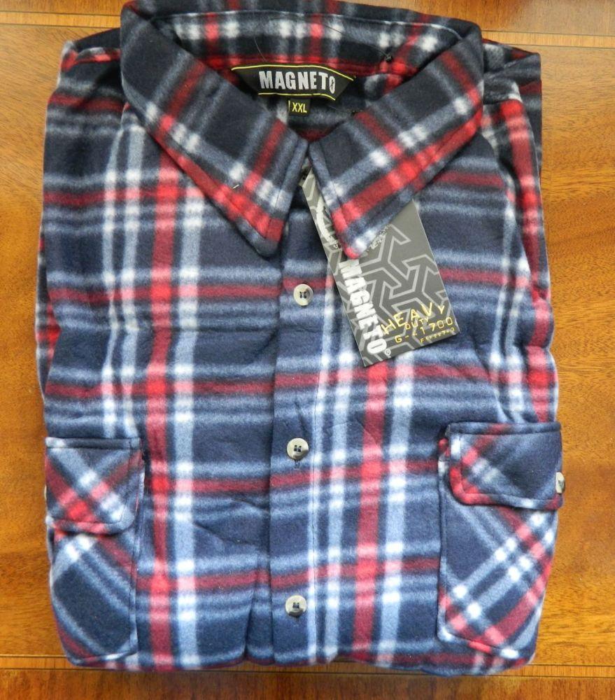 Magneto / Pierre Roche fleece shirts Red/Vavy