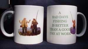 A Bad Days Fishing, Mug