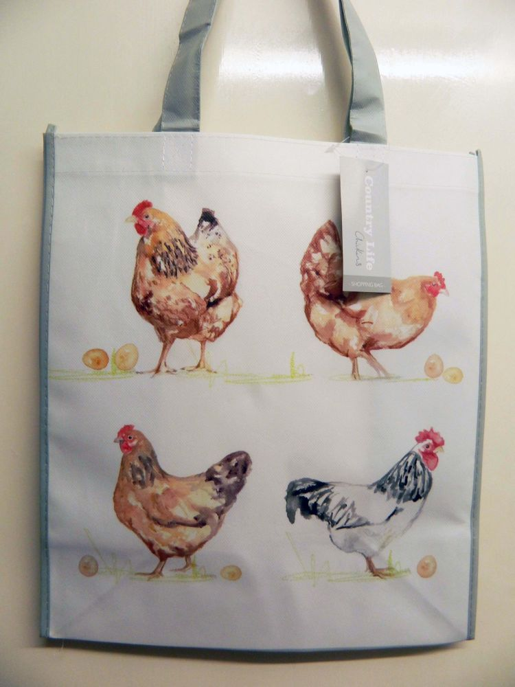 reusable shopping bag - chickens