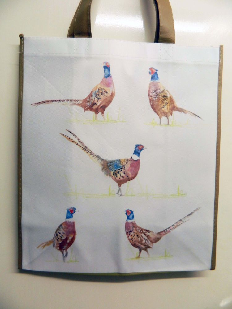 Reusable shopping bag -  pheasants