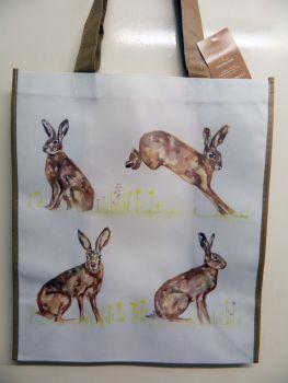Reusable shopping bag -  hares
