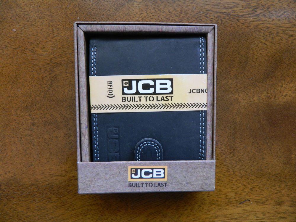 Mans JCB leather wallet