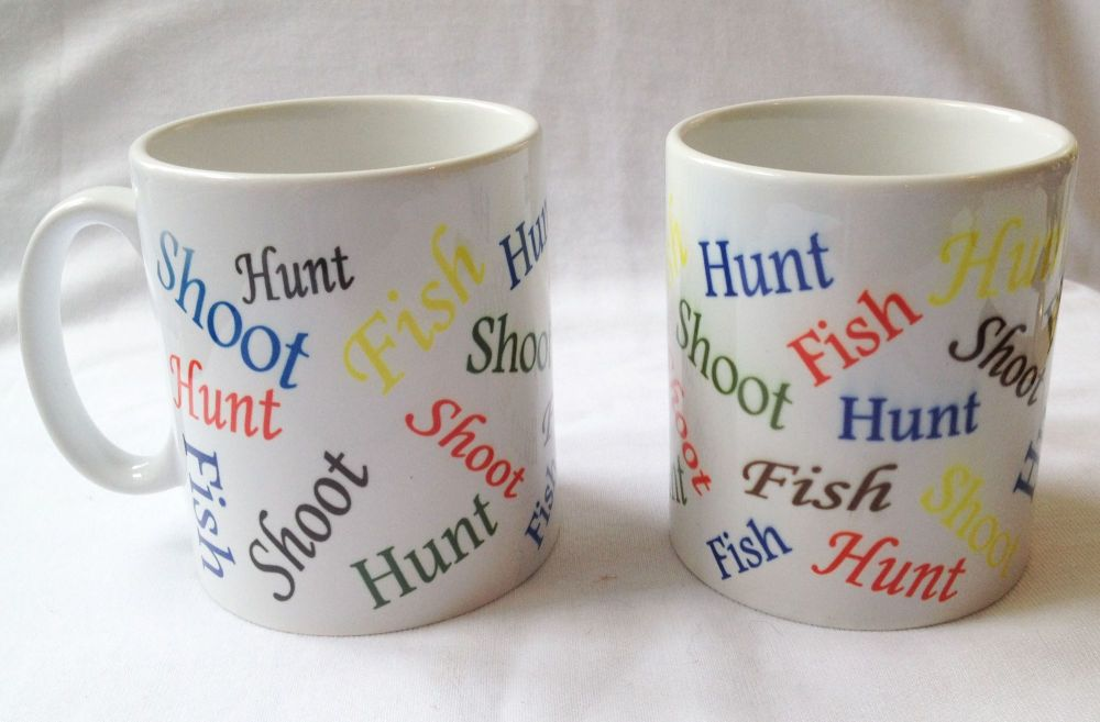 New Product hunt, shoot, fish, multi mug
