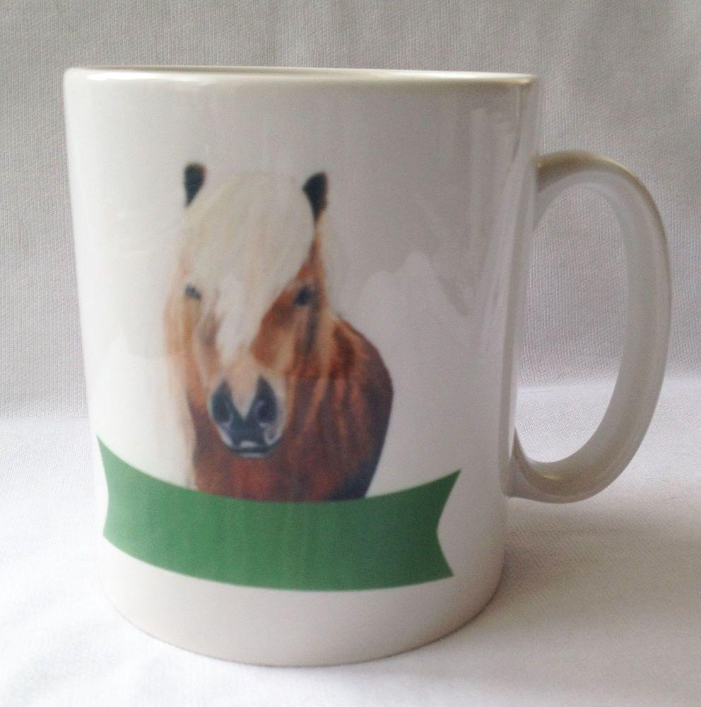New Product Shetland pony mug,  personalized