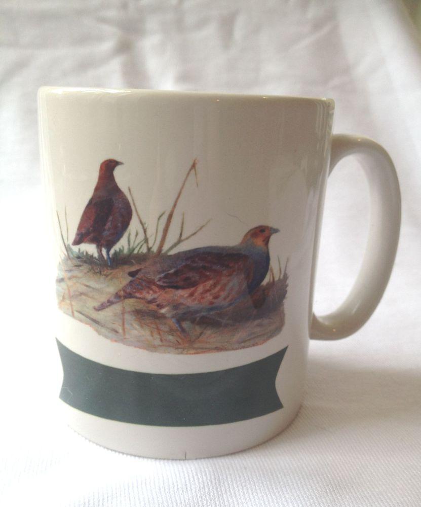 New Product  Partridge mug, personalized