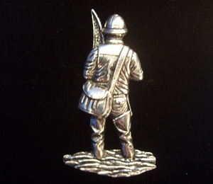 Fisherman Pewter Pin Badge