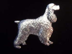 Cocker Spaniel pewter pin badge