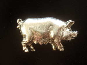 Pig Pewter Pin Badge