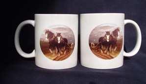 Shires ploughing,  mug