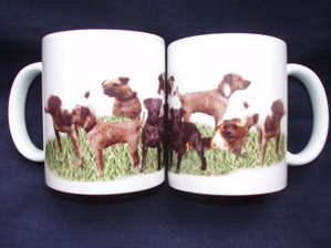 Working Terriers, mug