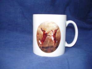 Boxing Hares, Mug