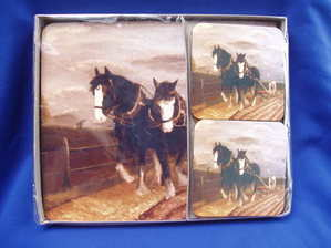 Shires ploughing, Placemats