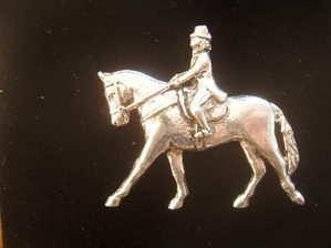 Dressage rider ---Pewter pin badge