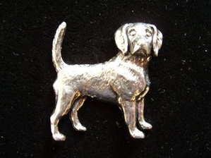 Beagle, Pewter Pin Badge
