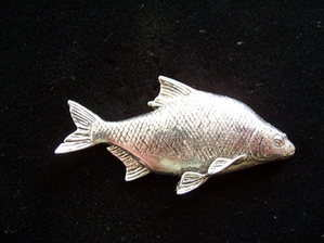 Pewter pin badge -- Bream