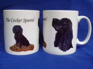 The Black Cocker Spaniel ---mug