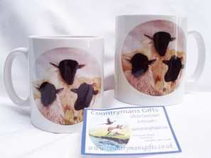 A threesome of sheep ----mug