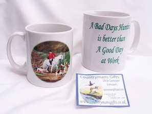 Mounted pack hunting mug, A bad days hunting...