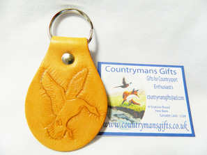 Leather key fob - Settling duck