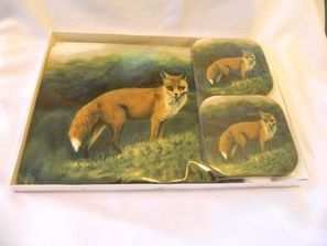 Fox, Placemats and Coasters Set