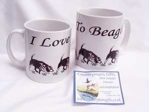 I love to beagle, hunting mug