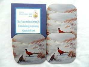 Pheasants coaster set