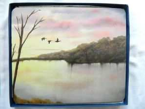 Geese in flight, Placemats