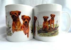 Border Terrier Mug, New design