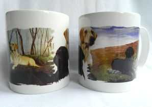 Yellow and Black Labrador mug