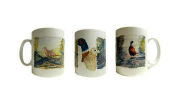 New design, pheasants mug, shooting gift