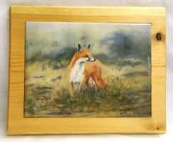 Fox, Tiled tea pot stand, table centre