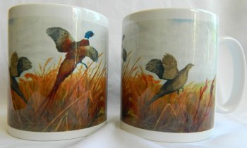 Flying pheasants mug