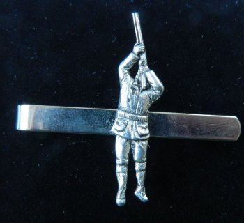 Game shooter pewter tie slide