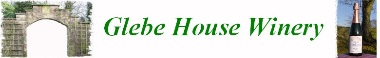 Glebe House Winery, site logo.
