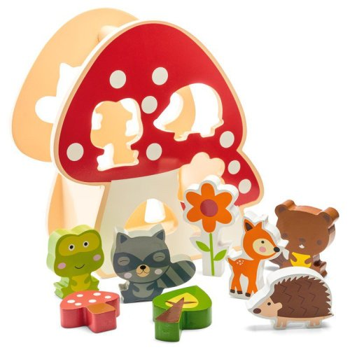 Woodland Animals Shape Sorter with carry handle