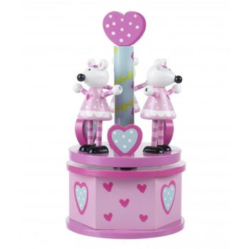 Music Box - Pink Mouse Carousel