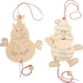 Colour In Santa/Snowman jumping jack