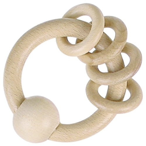 Touch Ring - Natural wood - 4 rings