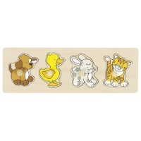 Peg Puzzle Row Animals