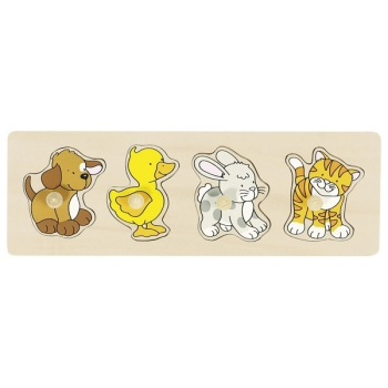 Peg Puzzle Row Animals
