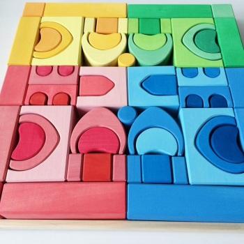 Designer Castle Coloured Blocks